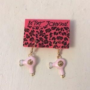Betsey Johnson Hair Dryer Earrings